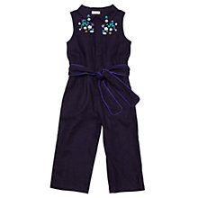 Buy Margherita Kids Girls' Embroidered Jumpsuit, Eclipse/Multi Online at johnlewis.com