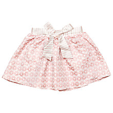Buy Margherita Kids Girls' Jacquard Daisy Skirt, Pink Icing Online at johnlewis.com