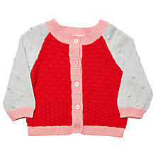 Buy Margherita Kids Baby Colour Block Cardigan, Hibiscus Online at johnlewis.com