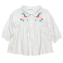 Buy Margherita Kids Baby Embroidered Blouse, White Online at johnlewis.com