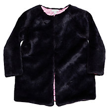 Buy Margherita Kids Girls' Faux Fur Jacket, Eclipse Online at johnlewis.com
