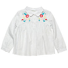 Buy Margherita Kids Girls' Floral Embroidered Blouse, White Online at johnlewis.com