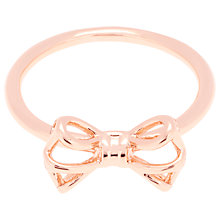 Buy Ted Baker Ginniee Tiny Geometric Bow Ring Online at johnlewis.com