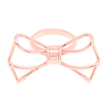 Buy Ted Baker Gizele Geometric Bow Ring Online at johnlewis.com