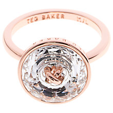 Buy Ted Baker Keriann Crystal Button Ring Online at johnlewis.com