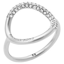 Buy Michael Kors Open Circle Crystal Pavé Ring Online at johnlewis.com