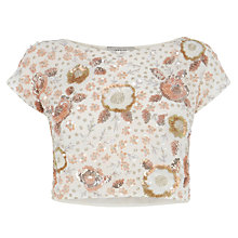 Buy Coast Adaria Embellished Top, Blush Online at johnlewis.com
