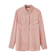 Buy Violeta by Mango Soft Fabric Blouse, Light Pastel Pink Online at johnlewis.com