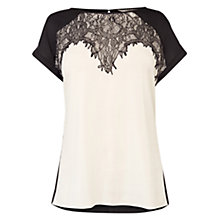 Buy Coast Orlov Lace Trim Top, Mono Online at johnlewis.com