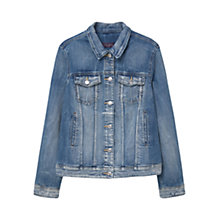 Buy Violeta by Mango Medium Denim Jacket, Open Blue Online at johnlewis.com