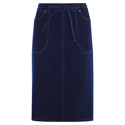 Karen Millen Belted Skirt, Denim