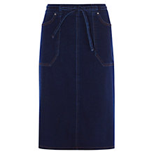 Buy Karen Millen Belted Skirt, Denim Online at johnlewis.com