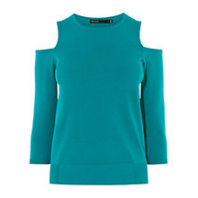 Buy Karen Millen Cold Shoulder Detail Jumper, Blue Online at johnlewis.com