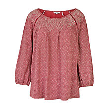 Buy Fat Face Purton Artisan Geo Top, Burnt Red Online at johnlewis.com