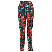 Buy Warehouse Botanical Floral Trousers, Black Pattern Online at johnlewis.com