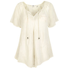 Buy Fat Face Nicole Embroidered Blouse, Ivory Online at johnlewis.com