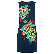 Buy Warehouse Botanical Floral Dress, Navy Online at johnlewis.com