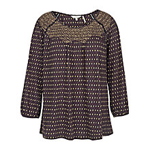 Buy Fat Face Purton Flower Bud Top, Phantom Online at johnlewis.com