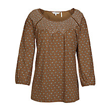 Buy Fat Face Purton Scatter Floral Top, Demerara Online at johnlewis.com