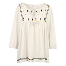 Buy Fat Face Embroidered Blouse, Cotton Seed Online at johnlewis.com