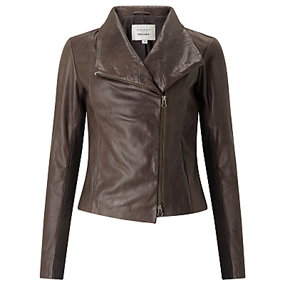 Denim Wardrobe by Trilogy Crawford Leather Jacket, Brown