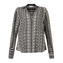 Buy Velvet Leonie Blouse, Black Diamond Online at johnlewis.com