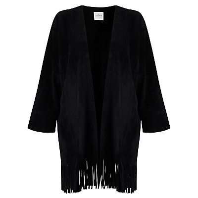 Velvet Monita Fringe Hem Jacket, Black