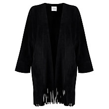 Buy Velvet Monita Fringe Hem Jacket, Black Online at johnlewis.com