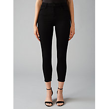 Buy J Brand Maria Rise Ankle Crop Skinny Jeans, Black Online at johnlewis.com