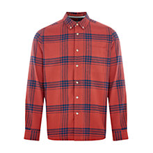 Buy HYMN Lydon Wide Check Shirt, Orange Online at johnlewis.com
