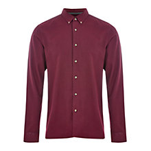 Buy HYMN Piranha Brushed Shirt, Red Online at johnlewis.com