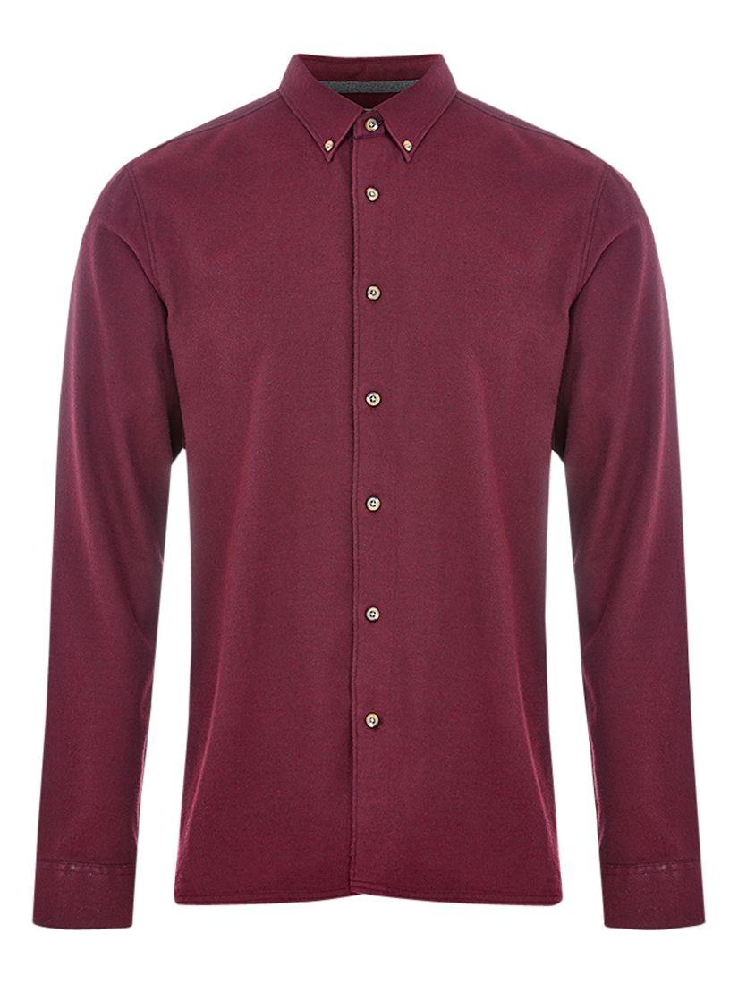 HYMN HYMN Piranha Brushed Shirt, Red