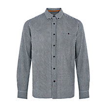 Buy HYMN Buzzcock Gingham Shirt, Ecru/Black Online at johnlewis.com