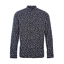 Buy HYMN Tibbs Safety Pin AOP Shirt, Black Online at johnlewis.com