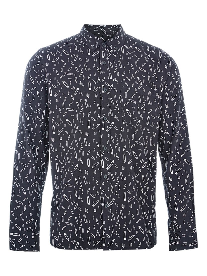 HYMN HYMN Tibbs Safety Pin AOP Shirt, Black