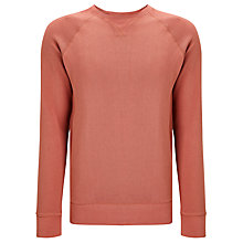 Buy Dockers Crew Neck Jumper, Washed Red Online at johnlewis.com