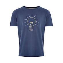 Buy HYMN Embroidered Lightbulb T-shirt, Navy Online at johnlewis.com