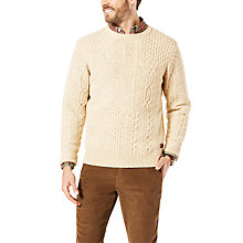 Buy Dockers Patchwork Jumper, Cream Online at johnlewis.com