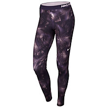 Buy Nike Pro Warm Notebook Training Tights, Purple Dynasty/Bleached Lilac Online at johnlewis.com