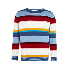 Buy John Lewis Boys' Cashmere Blend Multi Stripe Jumper, Multi Online at johnlewis.com