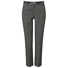 Buy Phase Eight Alice Oval Belted Trousers, Black/White Online at johnlewis.com