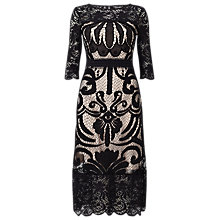 Buy Phase Eight Anna Placement Lace Dress, Black Online at johnlewis.com
