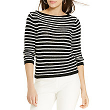 Buy Lauren Ralph Lauren Myaree Jumper, Black/White Online at johnlewis.com