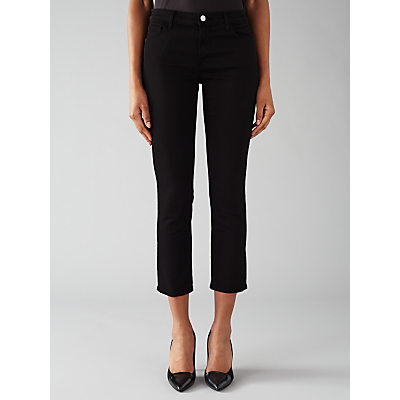 J Brand 8312 Cropped Flare Rail Jeans, Black