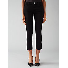 Buy J Brand 8312 Cropped Flare Rail Jeans, Black Online at johnlewis.com