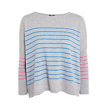 Buy Cocoa Cashmere Full Swing Stripe Cashmere Jumper, Multi Online at johnlewis.com
