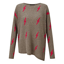 Buy 360 Sweater Solange Cashmere Jumper, Antler/Lipstick Online at johnlewis.com