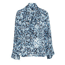 Buy Pyrus Annie Printed Tie Blouse, Resonance Blue Online at johnlewis.com