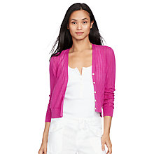 Buy Lauren Ralph Lauren Kasua Pointelle Cardigan Online at johnlewis.com