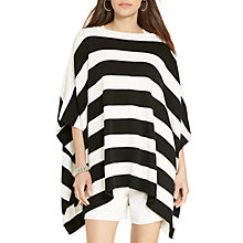 Buy Lauren Ralph Lauren Thurio Stripe Poncho, Black/White Online at johnlewis.com